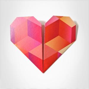 Origami Srdce