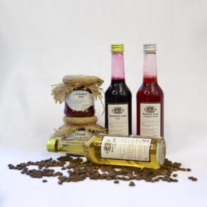 Nevšední dárky - Lesní ochutnávka marmelád a sirupů