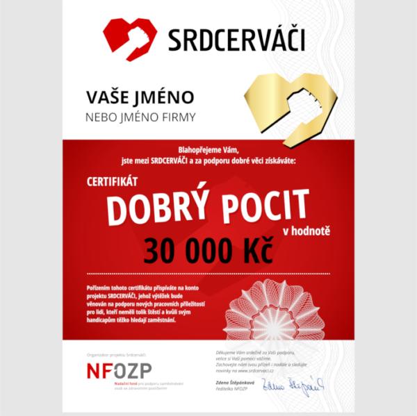 Zlatý certifikát Dobrý pocit